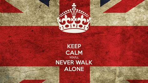 testo you ll never walk alone keep calm you ll never walk alone poster heygabo keep