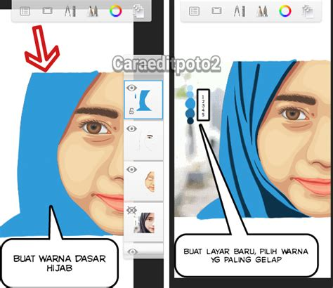 tutorial sketchbook kartun tutorial edit foto vector vexel di aplikasi sketchbook android
