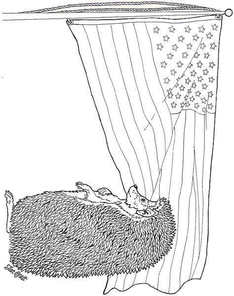 Pledge Allegiance To The Flag Coloring Page Pledge Of Allegiance Coloring Page