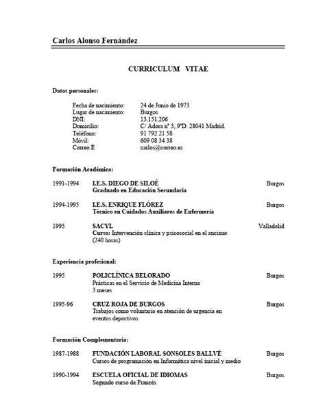 Plantilla Curriculum Vitae Experiencia Ni Estudios Plantilla De Curriculum Vitae B 225 Sico Experiencia Modelo Curriculum