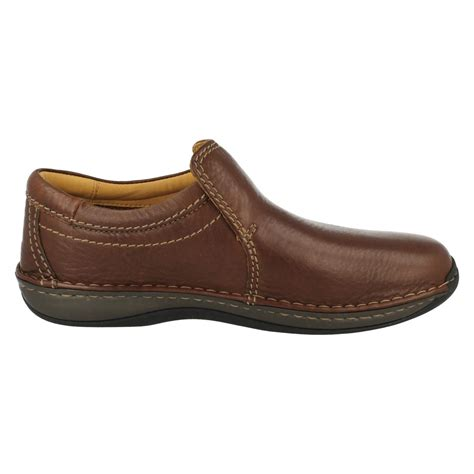 mens clarks smart casual wide fit slip on shoes stroll