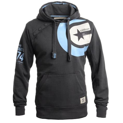 Jaket Fleece Branded 37 mens branded crosshatch designer pullover hooded jacket