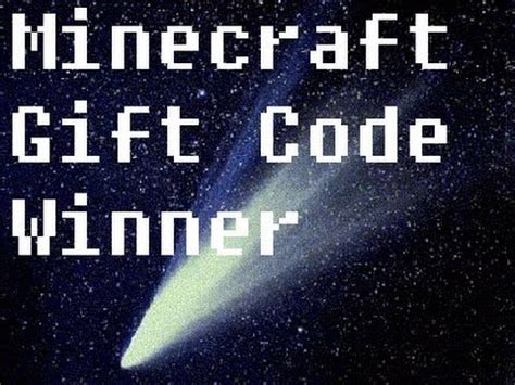 Minecraft Codes Giveaway - minecraft gift code giveaway winner youtube