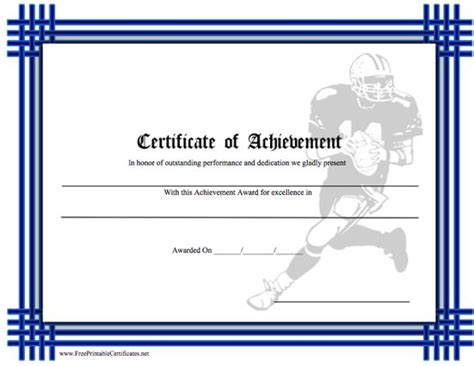 football certificate templates free football coach appreciation certificate just b cause