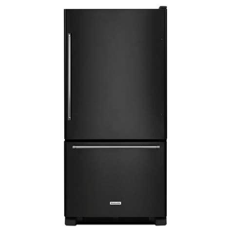 kitchenaid krbx109ebl 18 67 cu ft bottom freezer