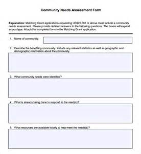 needs analysis questions template community needs assessment 8 free for pdf