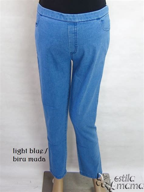 Celana Panjang Import Cutbray Light Blue Biru Muda 455 Komprang junisha celana panjang estila
