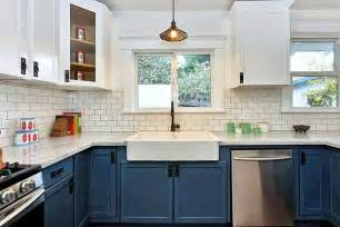 And the kitchen is not off limits consider navy cabinets