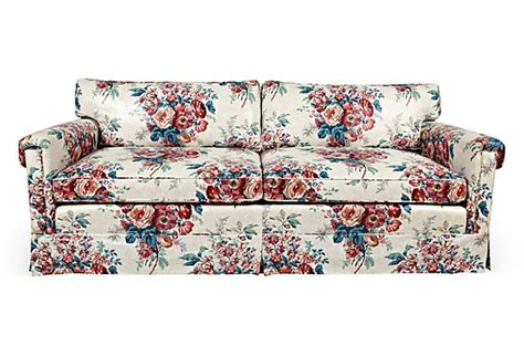 chintz couch 1970s mark hton chintz sofa on onekingslane com