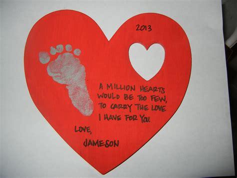 wooden keepsake with footprint poem infant