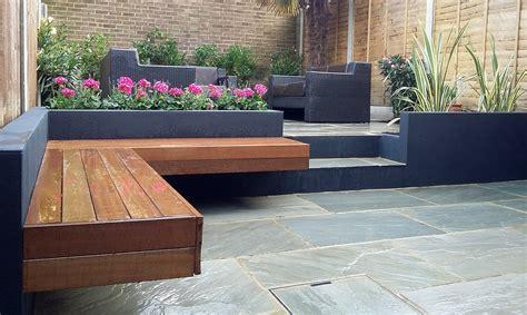patio moderne modern garden design sandstone paving patio