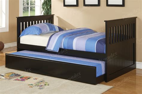 double trundle bed bedroom furniture twin bed w trundle day bed bedroom furniture showroom categories poundex