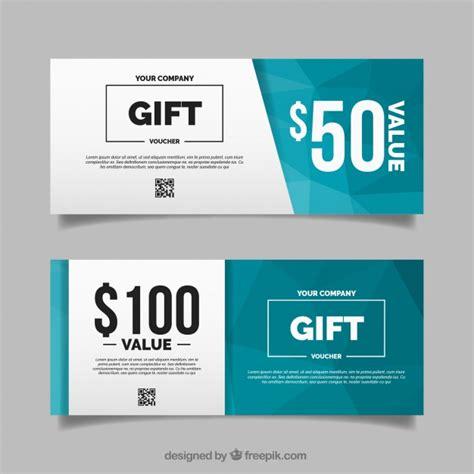design icons voucher code polygonal gift voucher in flat design vector free download