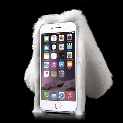 Softcase Tpu Bunny Lucu Soft Cover Casing Iphone 5 5s Se rabbit bunny soft fur tpu cover for iphone 6s 6 4 7 inch white tvc mall