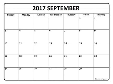 free printable blank calendar pages september calendar 2017 printable and free blank calendar