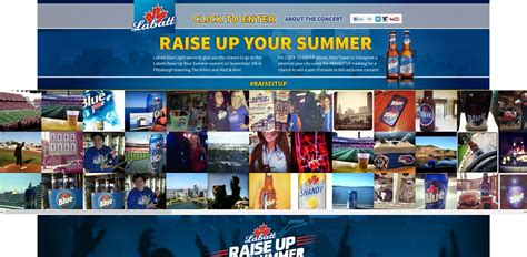 Summer Concert Sweepstakes - labatt raise it up summer concert sweepstakes
