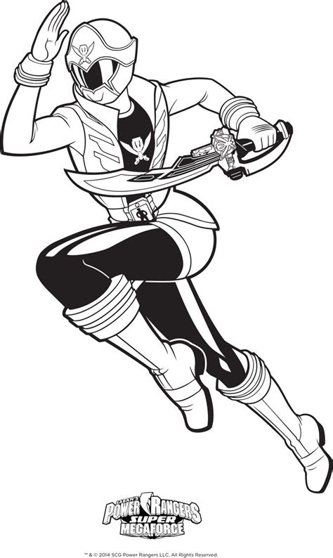 power rangers megaforce coloring pages power rangers coloring page super megaforce pink ranger