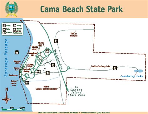 cama beach state park map washington state map of cities