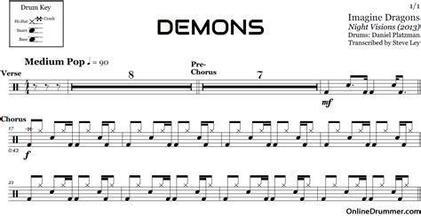 download imagine dragons it comes back to you mp3 demons imagine dragons drum sheet music