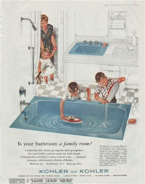 vintage bathroom advertisements 1961 kohler of kohler vintage ad quot bathroom a family room quot