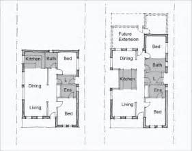 Single Line Floor Plan by 2 Storey House Plan With Measurement Design Design A