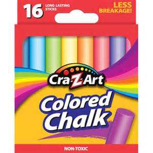 colored chalk cra z colored chalk 16ct office supplies walmart