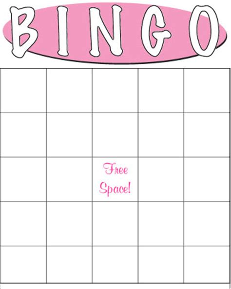 blank baby shower bingo cards template 6 best images of empty bingo cards printables free blank