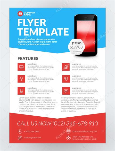 new business flyer template vector business flyer design template for mobile