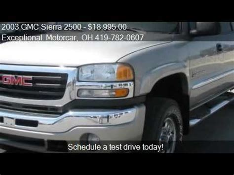 exceptional motor car 2003 gmc 2500 sle crew cab bed 4wd for sale