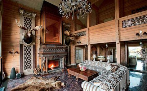 russian wooden villa room interior decorating ideas