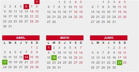 Calendario Laboral Barcelona 2017 Calendario Laboral De Barcelona 2017
