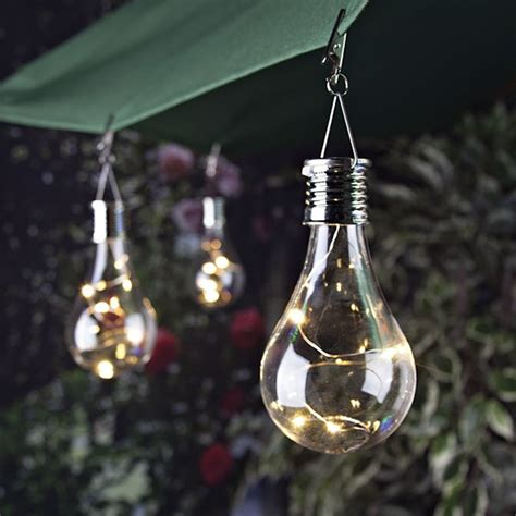 solar operated lights 6 inch solar edison light bulb with clip buy now
