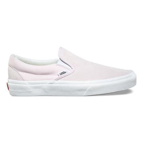 light gray slip on vans suede canvas slip on shop womens shoes at vans