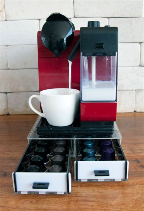 kitchen decor storage nespresso drawer holder for capsules