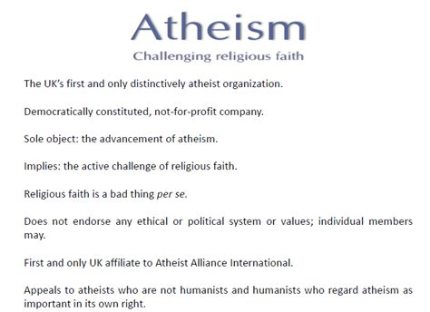 Atheism Essay by Dorset Humanists Website November 2010