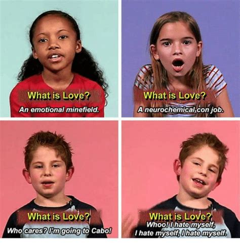 What Is Love Meme - what is love an emotional minefield what is love who
