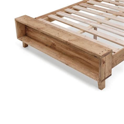 Solid Pine Bed Frame Portland Recycled Solid Pine Rustic Timber Size Bed Frame