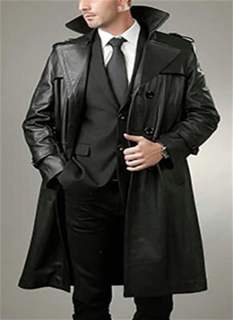 chaquetones de cuero abrigos de cuero para hombre