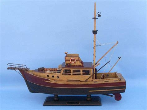 boat in jaws name jaws orca 20 quot beach house decoration model ship wooden