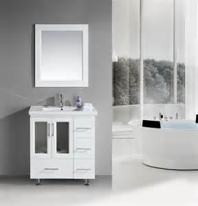 Brushed nickel bathroom faucet 17 modern white bathroom vanities