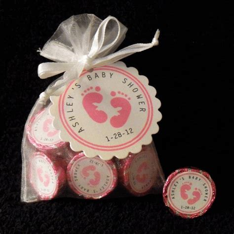 personalized hershey baby shower favor kit white