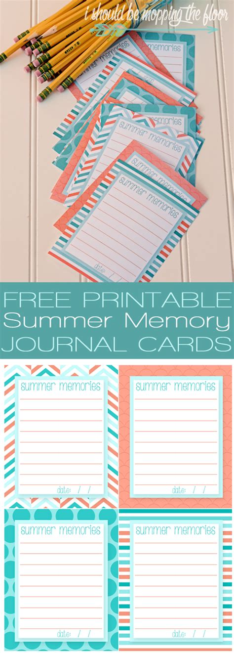 printable memory journal i should be mopping the floor free printable summer