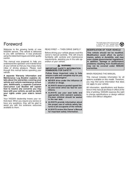 car maintenance manuals 1999 nissan altima on board diagnostic system 2001 nissan altima owner s manual car maintenance tips