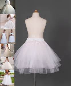 White Flower Knot Dress Size S M L flower dress children underskirt kid wedding crinoline petticoat size s m l ebay