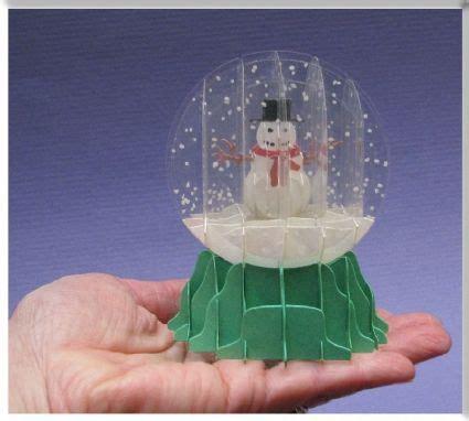 Snow Globe Paper Craft - sliceform snow globe pop up card sliceform