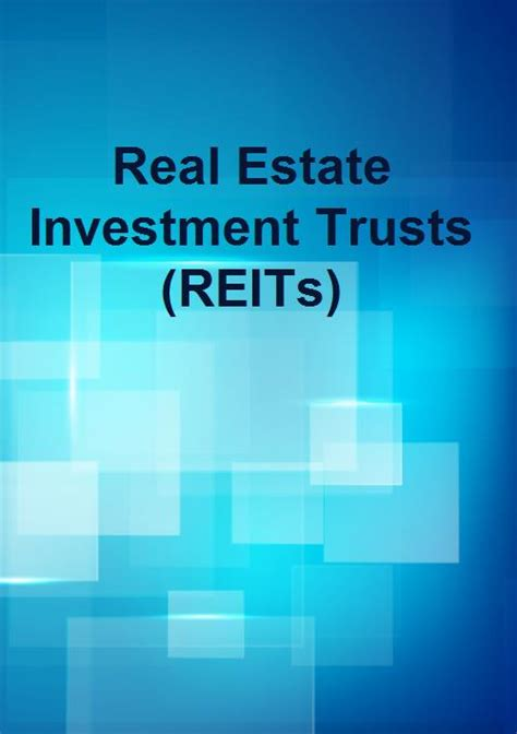 real estate investment trusts reits research and markets