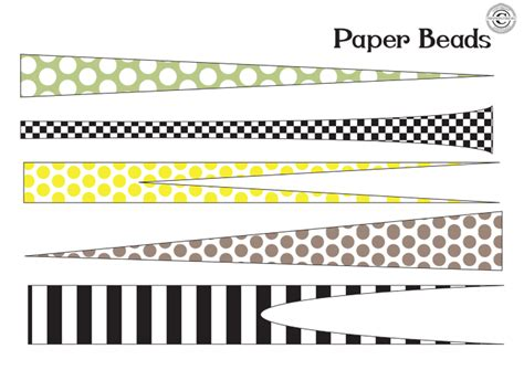 printable paper jewelry 14 best photos of round paper beads template paper bead