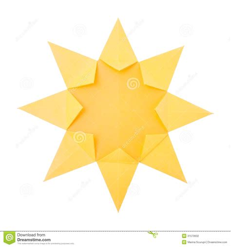 How To Make A Origami Sun - origami sun stock photography image 31570632
