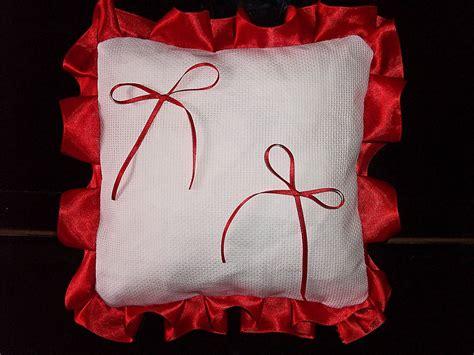 cuscino portafedi da ricamare cuscino fedi quadrato cuscinetto portafedi fedi volant