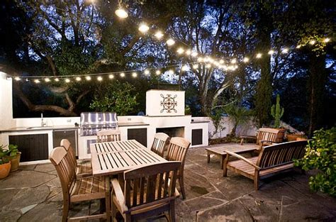 how to light up a backyard party hosting an outdoor party in autumn